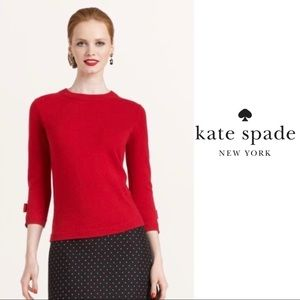 NEW Kate Spade Martingale Sweater in Black